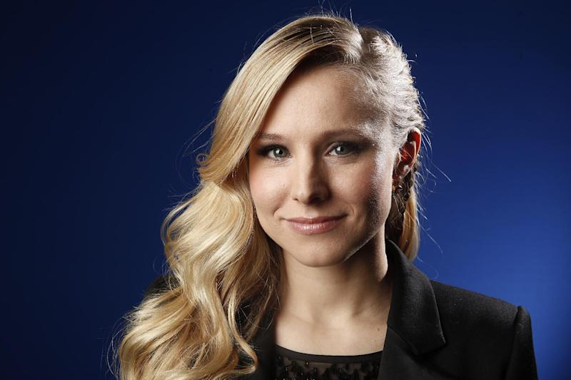 """FILE - This Jan. 6, 2012 file photo shows actress Kristen Bell in New York. Target is releasing an episodic series of short films starring Kristen Bell and Nia Long and everything on screen is for sale. The company unveiled the three episodes of """"Falling for You"""" Thursday, Sept. 27, at a private event at the SLS Hotel in Los Angeles.  (AP Photo/Carlo Allegri, file)"""