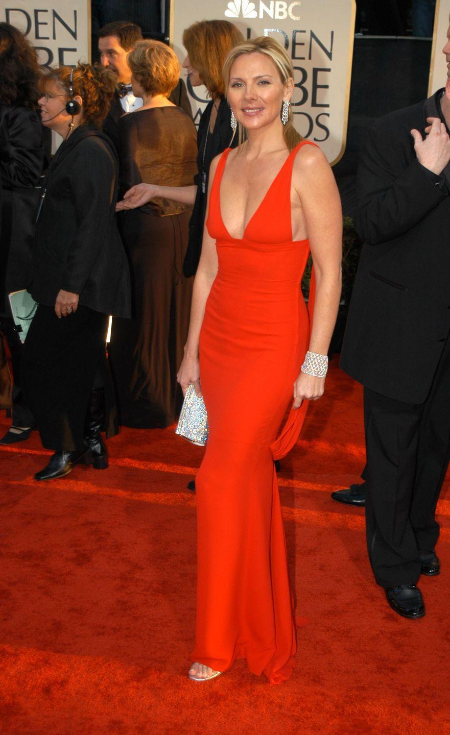 <p>As one of the sexiest characters in the hit show <em>Sex and the City, </em>Catrall gave us red-hot siren at the Globes in 2003. </p>