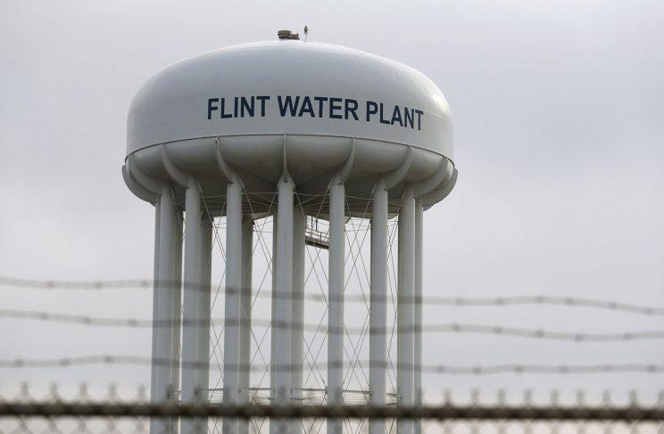A water tower in Flint, Mich. (Photo: Rebecca Cook/Reuters)