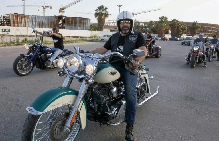 Libyan bikers parade through the streets of the eastern city of Benghazi, the cradle of the 2011 revolution