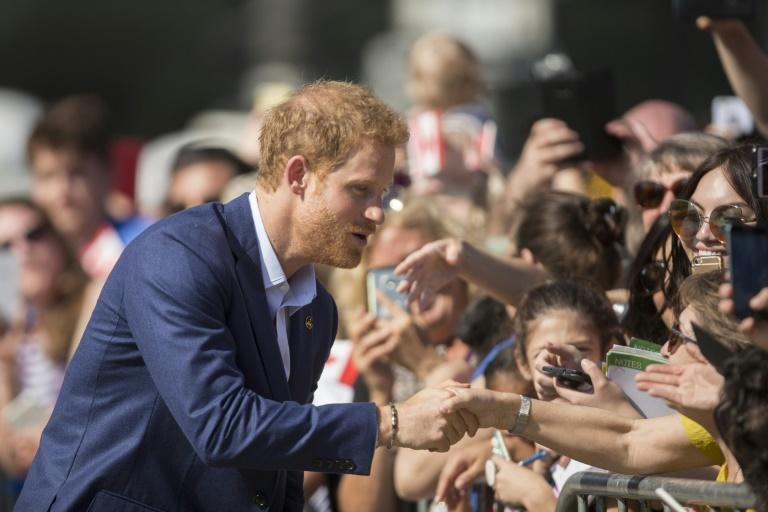 Prince Harry greeted fans after his visit to Toronto's Center for Addiction and Mental Health