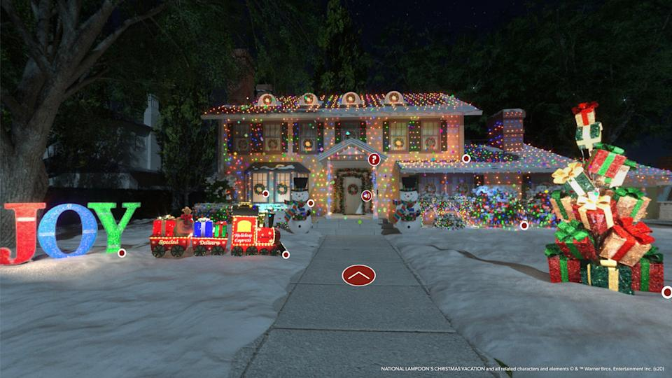 "Sam's Club has created a ""virtual Griswold house"" for holiday shoppers. (Photo: Sam's Club)"