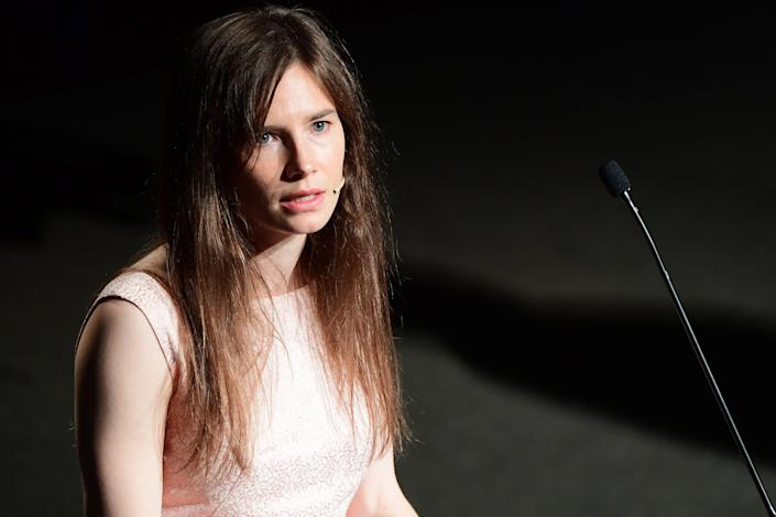 Amanda Knox is among a group of people, including NXIVM members, demanding answers ahead of Keith Raniere's conviction.