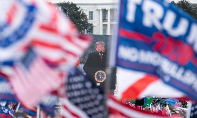 Trump speaks to supporters from the Ellipse at the White House on Jan. 6 soon before many in that crowd stormed Congress to interrupt the Electoral College vote certification. (Photo: Bill Clark via Getty Images)