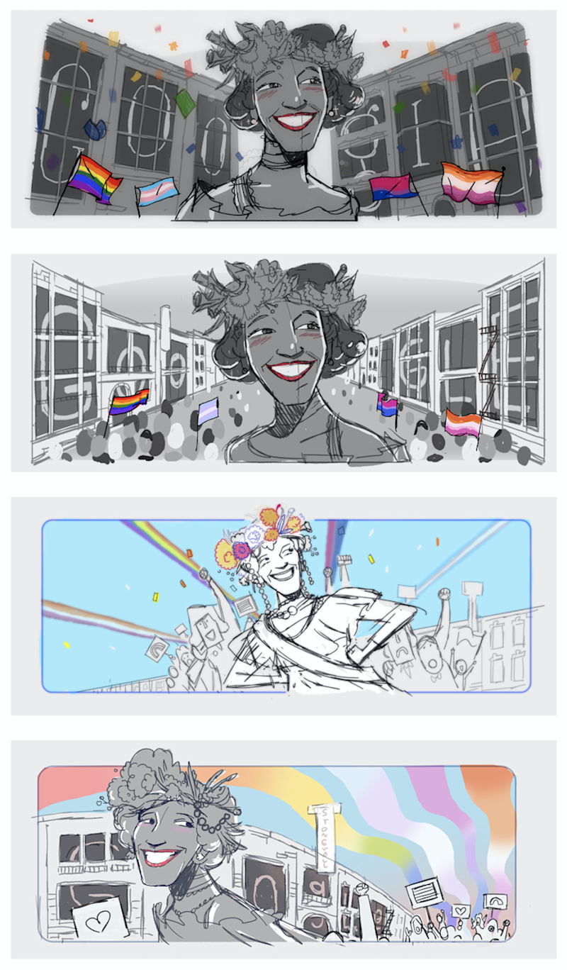 Today's Google Doodle celebrates Marsha P. Johnson (Google)