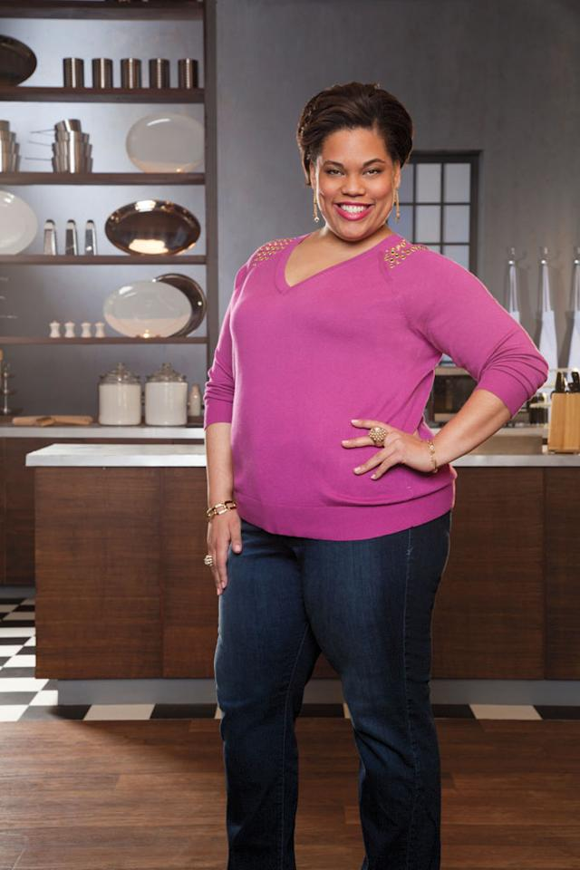 "Connie ""Chef Lovely"" Jackson, 27 (Los Angeles), was born and raised in Chicago and was doted on as the baby of her family, earning her the nickname ""Lovely."" She learned to cook by helping her mom in the kitchen, and went on to attend culinary school and earn three degrees, her most advanced is a Bachelor's in Culinary Management at the Illinois Institute of Art. Lovely is truly glam, working with diamond-encrusted knives and edible diamonds as a private chef for celebrities and professional athletes."