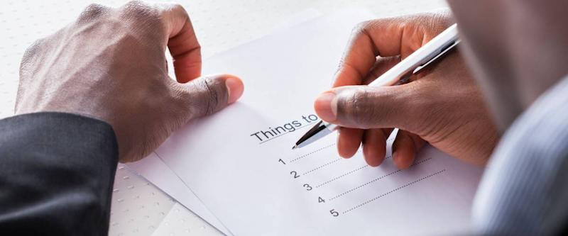 Break down goals with daily to-do lists