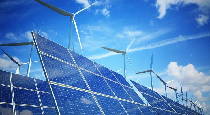windmills and solar panels that represent esg investing