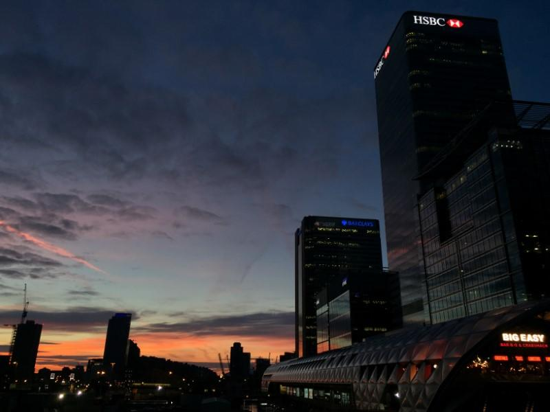 The dawn light is seen over London's Canary Wharf financial district the day after Britain's Prime Minister Theresa May invoked Article 50 to trigger Britain leaving the EU