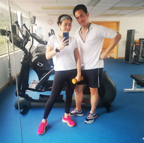 The happy couple that works out together, and stays together