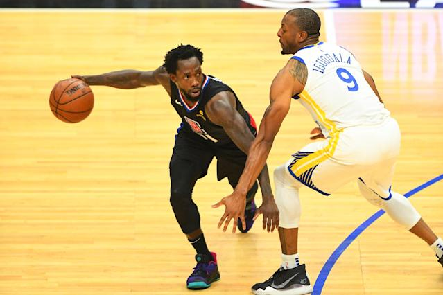Andre Iguodala can defend anyone and would fit right in with the Clippers. (Brian Rothmuller/Icon Sportswire via Getty Images)