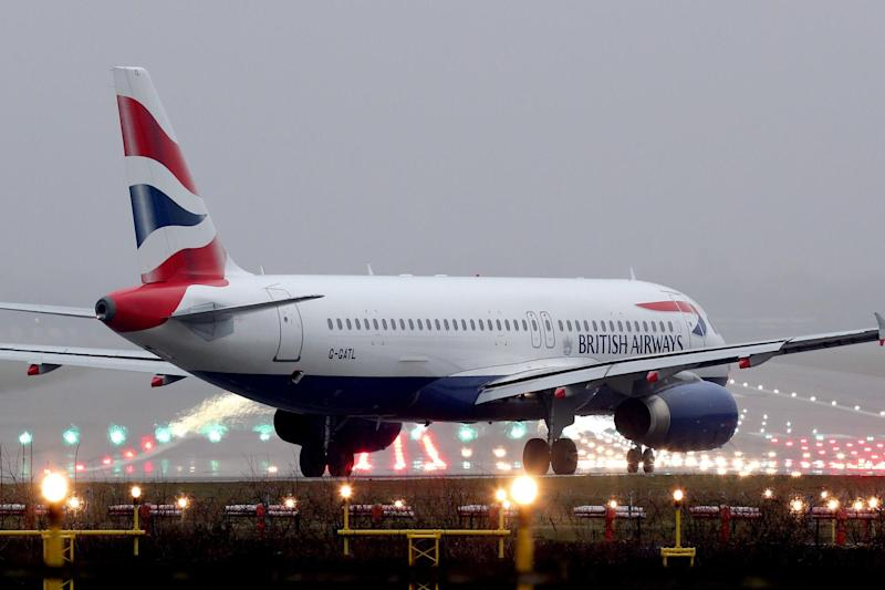 Diverted: the BA flight had taken off from Heathrow: PA