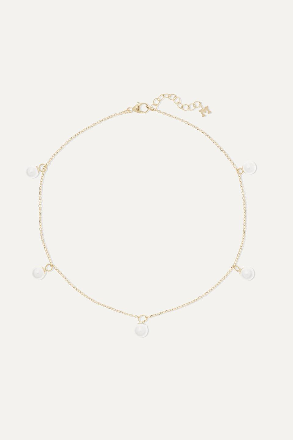 """<p><strong>Mateo</strong></p><p>net-a-porter.com</p><p><strong>$450.00</strong></p><p><a href=""""https://go.redirectingat.com?id=74968X1596630&url=https%3A%2F%2Fwww.net-a-porter.com%2Fen-us%2Fshop%2Fproduct%2Fmateo%2F14-karat-gold-pearl-anklet%2F1187658&sref=https%3A%2F%2Fwww.cosmopolitan.com%2Fstyle-beauty%2Ffashion%2Fg35942347%2Fsummer-2021-jewelry-trends%2F"""" rel=""""nofollow noopener"""" target=""""_blank"""" data-ylk=""""slk:Shop Now"""" class=""""link rapid-noclick-resp"""">Shop Now</a></p><p>A pearl anklet is just what you need to pair with your cute sandals this season.</p>"""