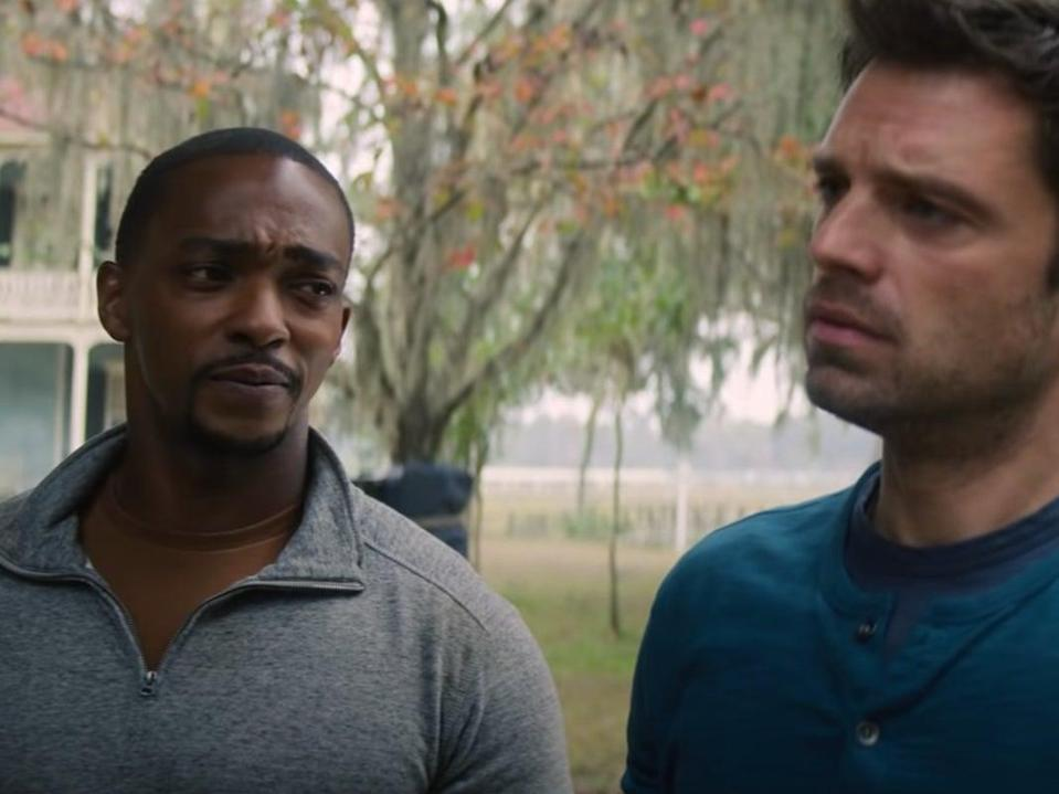 Anthony Mackie and Sebastian Stan in 'The Falcon and the Winter Soldier' (YouTube/Marvel Entertainment)