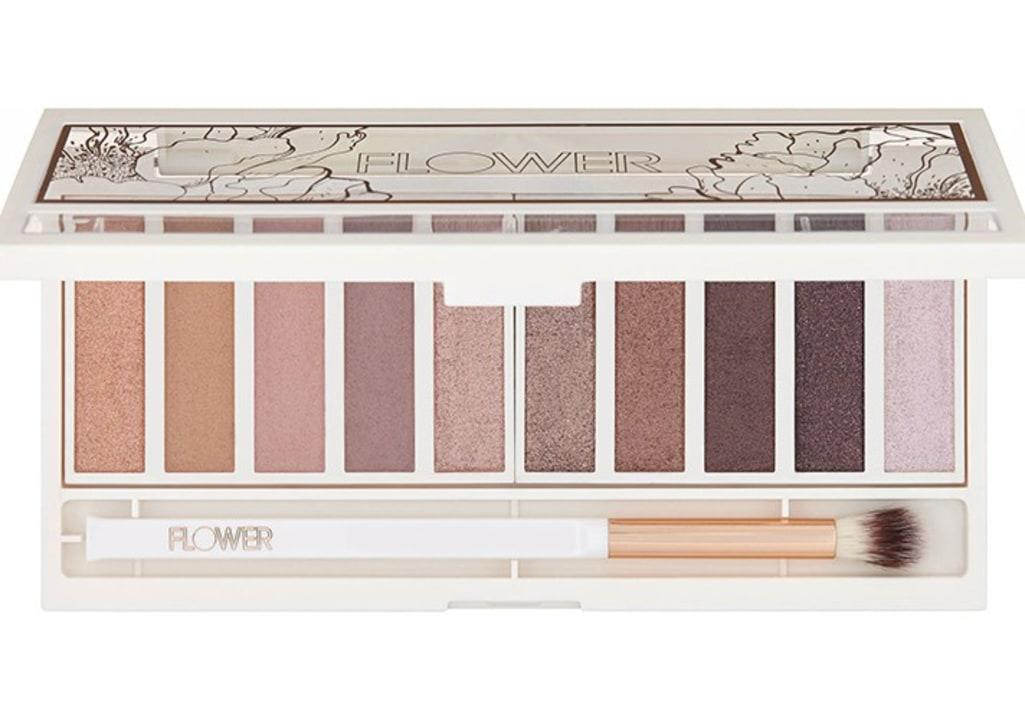 Flower Beauty Shimmer  Shade Eyeshadow Palette in Warm Natural, $16; at Flower Beauty
