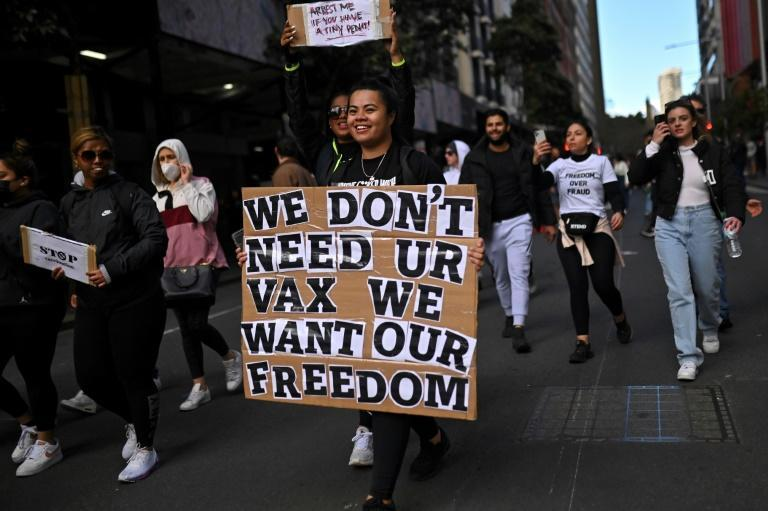 Organisers dubbed the Sydney protest a 'freedom' rally