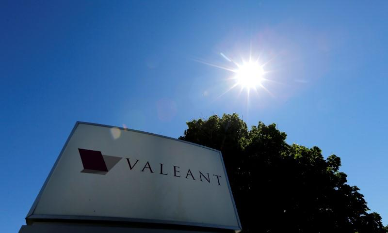 A sign for the headquarters of Valeant Pharmaceuticals International Inc is seen in Laval Quebec