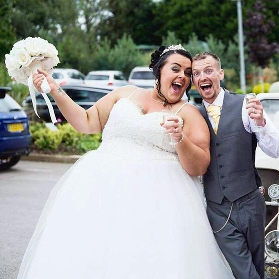 The couple have been married for two years. Photo: Caters News