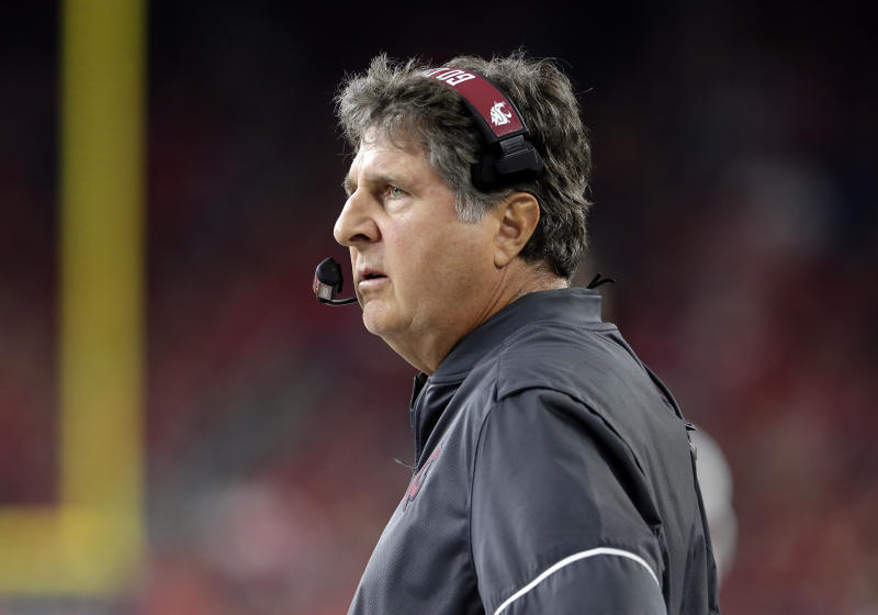 Washington State coach Mike Leach isn't a fan of a California bill that would allow college athletes to profit off their likeness.
