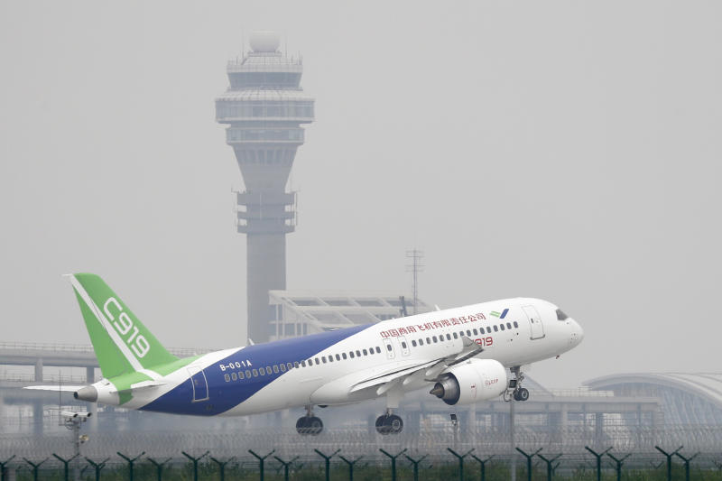 C-919: China's first passenger plane completes maiden flight