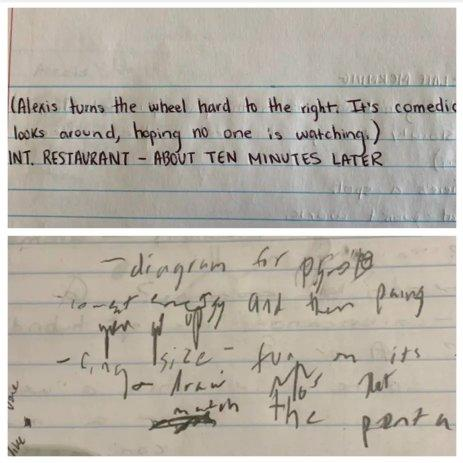 anxiety handwriting difference