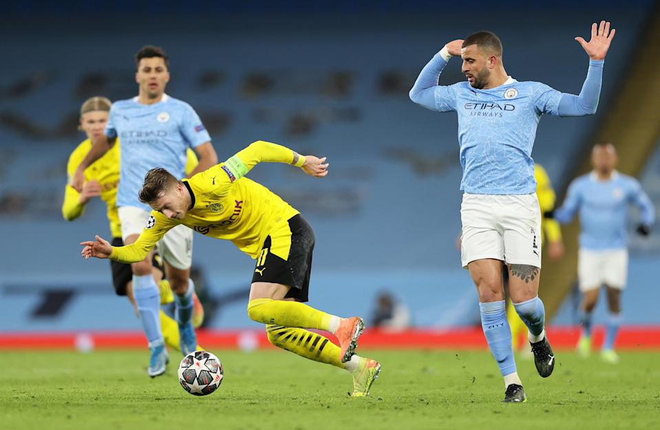 City and Dormund will play in the second leg of the Champions League tie (Getty Images)