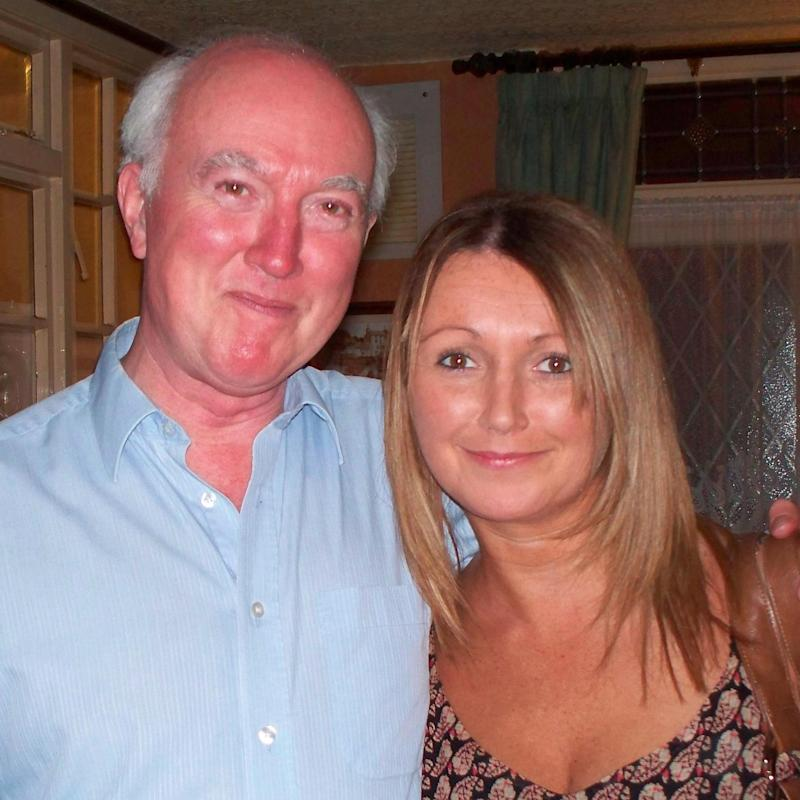 Peter Lawrence, with his daughter Claudia before her disappearance - Credit:  North Yorkshire Police