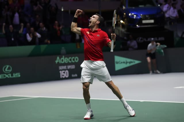 Roberto Bautista Agut helped Spain win the Davis Cup just three days after the death of his father (Manu Fernandez/AP)
