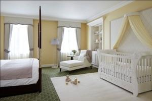 The Royal baby inspired this hotel suite at the Grosvenor House in London to be transformed into a quintessentially British nursery.