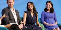 <p>There's no end to the touch-and-feel for these two, with Meghan affectionately touching her partner's arm as she laughed during a Q&A at the first annual Royal Foundation Forum.</p>