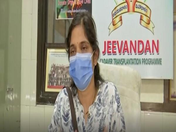 Dr Swarna Latha, Incharge of Jeevandan Program, Government of Telangana (Photo/ANI)