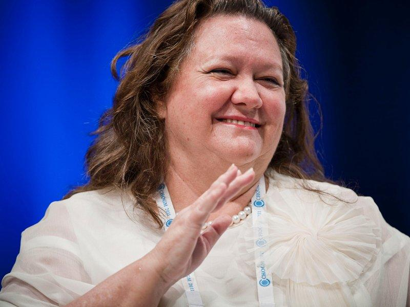 Cut costs or perish, Rinehart tells miners