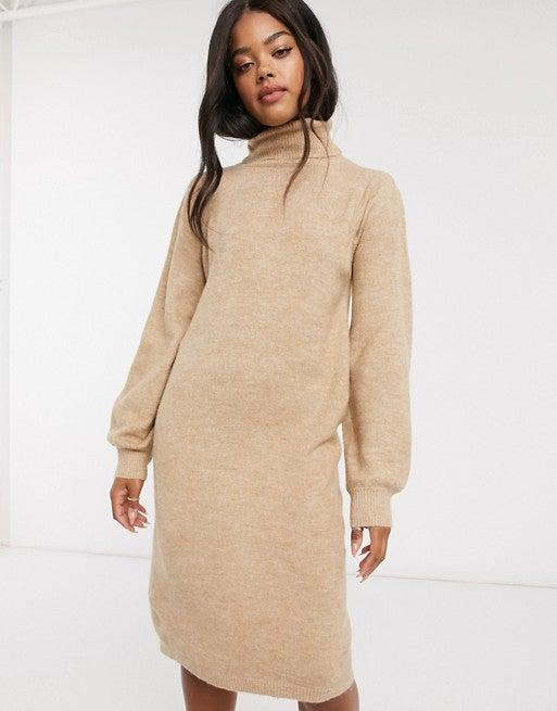 "<br><br><strong>Urban Bliss</strong> Urban Bliss Roll Neck Dress, $, available at <a href=""https://go.skimresources.com/?id=30283X879131&url=https%3A%2F%2Fwww.asos.com%2Fus%2Furban-bliss%2Furban-bliss-roll-neck-dress-in-beige%2Fprd%2F20862493%3F"" rel=""nofollow noopener"" target=""_blank"" data-ylk=""slk:ASOS"" class=""link rapid-noclick-resp"">ASOS</a>"