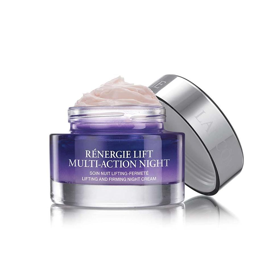 """<p>Lancôme Rénergie Lift Multi-Action Night is like a hug for your face, but instead of leaving you with a warm, fuzzy feeling, it imparts firmness. Moisture must-haves like shea butter and hyaluronic acid keep skin quenched throughout the night, while peptides ensure a boost in elasticity. If your <a href=""""https://www.allure.com/story/dry-vs-dehydrated-skin-whats-the-difference?mbid=synd_yahoo_rss"""" rel=""""nofollow noopener"""" target=""""_blank"""" data-ylk=""""slk:dry skin"""" class=""""link rapid-noclick-resp"""">dry skin</a> loves to soak up a rich cream before going to bed, this is the night cream for you.</p> <p><strong>$122</strong> (<a href=""""https://shop-links.co/1707256362525571859"""" rel=""""nofollow noopener"""" target=""""_blank"""" data-ylk=""""slk:Shop Now"""" class=""""link rapid-noclick-resp"""">Shop Now</a>)</p>"""