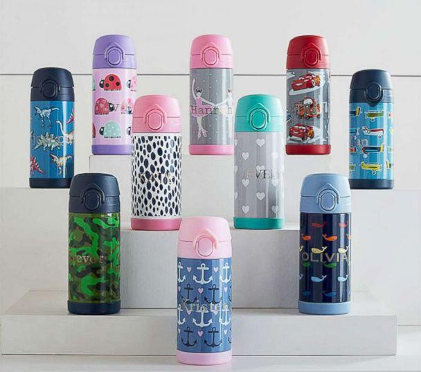 PHOTO: Monogrammed water bottles like these are shown from Pottery Barn Kids. (Pottery Barn Kids)