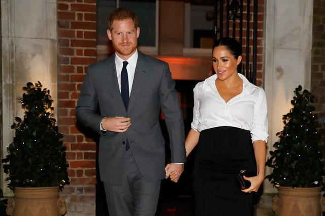 Meghan and Harry attended the Endeavour Fund Awards last year when she was pregnant with son Archie. Tolga Akmen/PA Wire