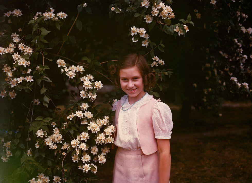 <p>Princess Margaret in the garden at Windsor during the summer of 1941. She turned 11 that summer.</p>