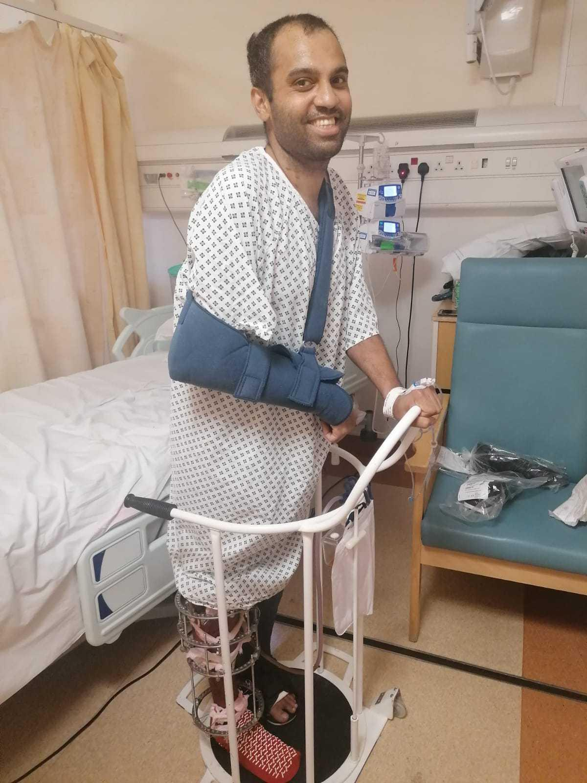 Choudhury was in an induced coma for three weeks and is still recovering from his injuries. (Reach)