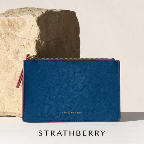 Charlotte Purse in Night with Kiss Edge, free with purchases over £400 (approx S$738) at Strathberry. PHOTO: Strathberry
