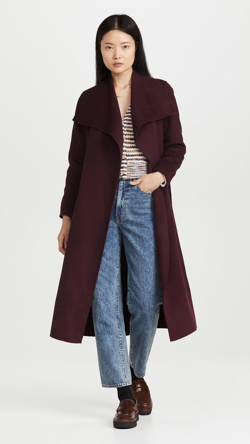 <p>This <span>Mackage Mai Coat</span> ($890) goes with everything from jeans and a t-shirt to a sweater dress. We love the dark brown hue.</p>