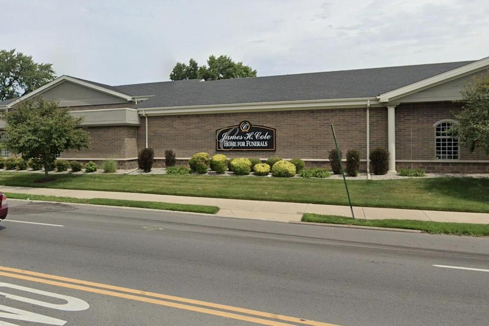 The James H. Cole funeral home, where Ms Beauchamp was found to be alive (Google Maps)