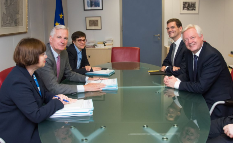 Mr Davis began negotiations with Michel Barnier today