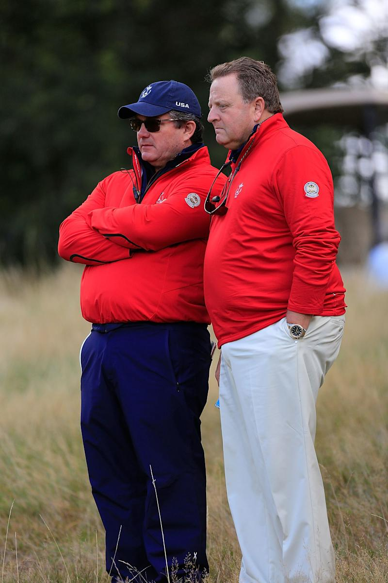 PGA of America president Paul Levy (right) said Easterbrook (left), the chief membership officer, will be interim CEO until a replacement is named.