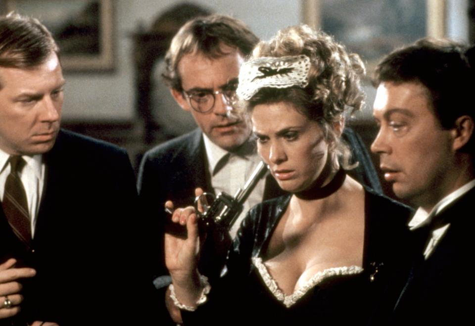 Michael McKean, Christopher Lloyd, Colleen Camp and Tim Curry star in 'Clue' (Photo: Paramount/courtesy Everett Collection)