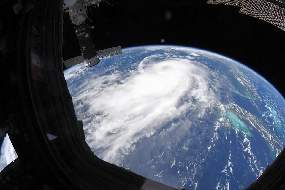 NASA astronaut Chris Cassidy captured this photo of Hurricane Laura in the Gulf of Mexico from his window on the International Space Station on Aug. 25, 2020.