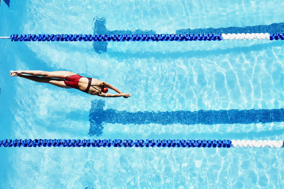 Swimming while on their period can be tricky for teenagers [Photo: Getty]