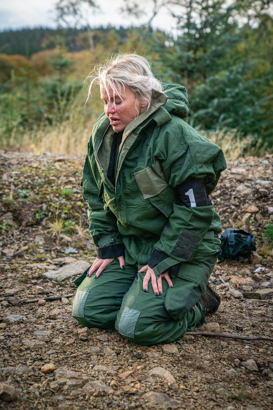 Kerry Katona is one of the 12 celebrities taking part in Channel 4's Celebrity SAS: Who Dares Wins (Channel 4)