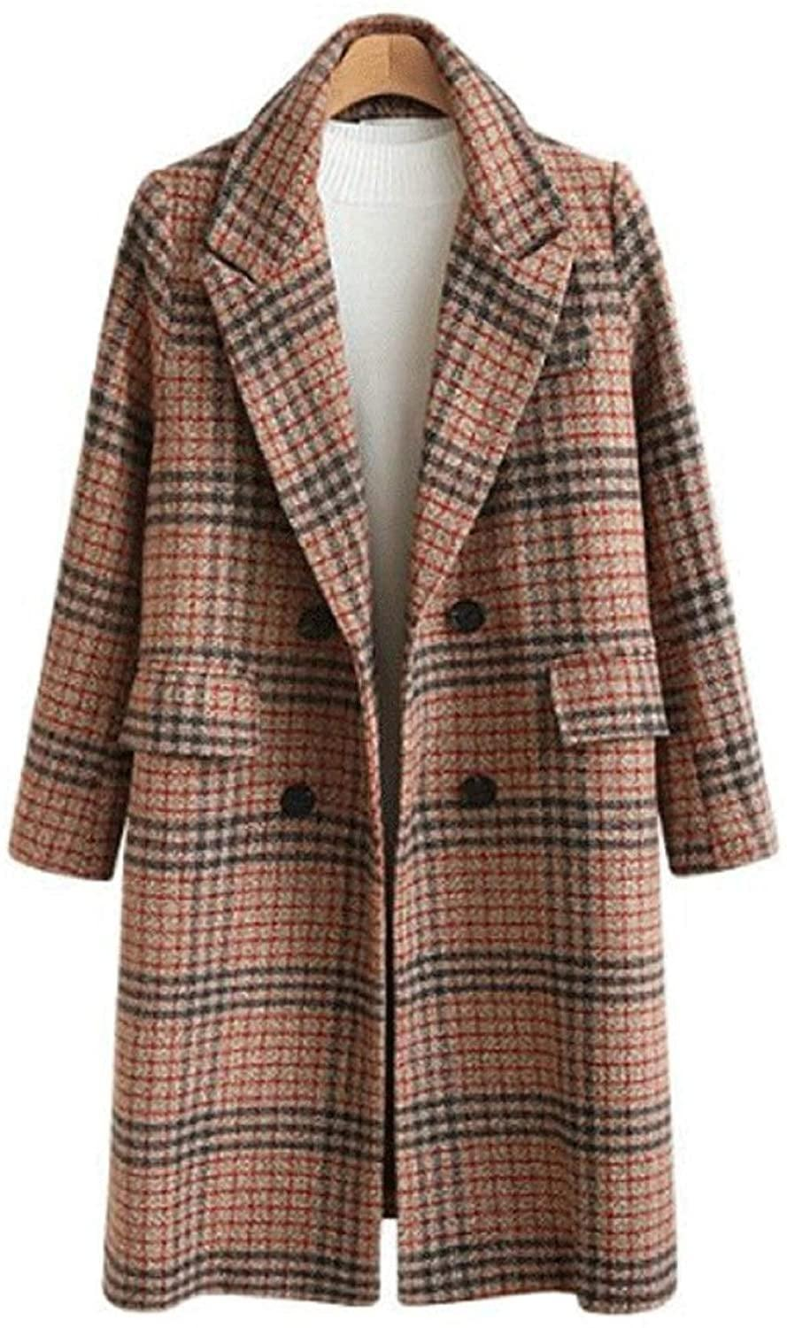 <p>You will get so much use out of this <span>Chartou Plaid Double-Breasted Coat</span> ($66).</p>