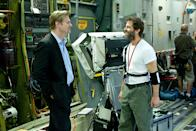 """Producer Christopher Nolan and director Zack Snyder on the set of Warner Bros. Pictures' """"Man of Steel"""" - 2013"""