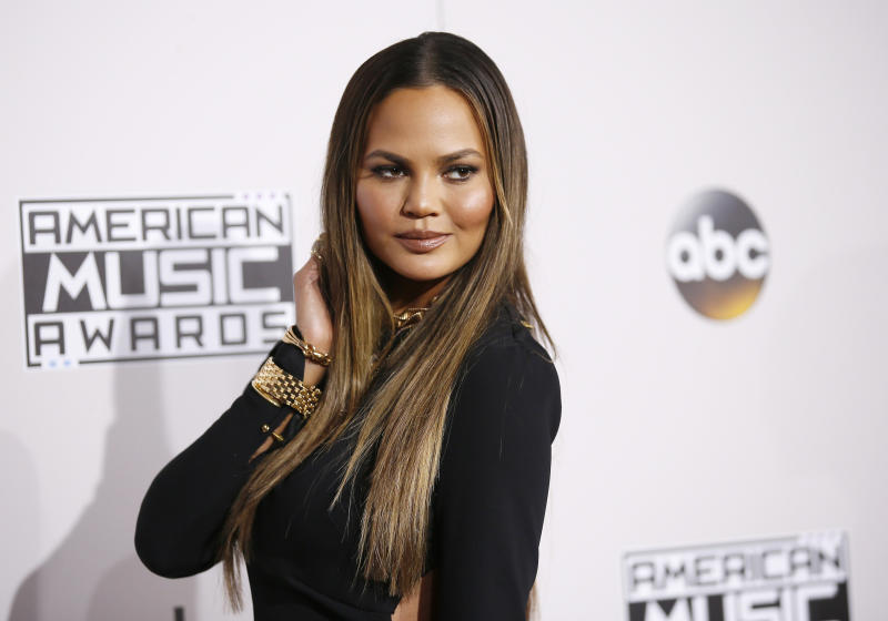 Chrissy Teigen took some time out of her day to roast a hater on Twitter. (Danny Moloshok/Reuters)